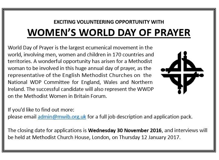 Saturday 10 November 2016 – World Day of Prayer