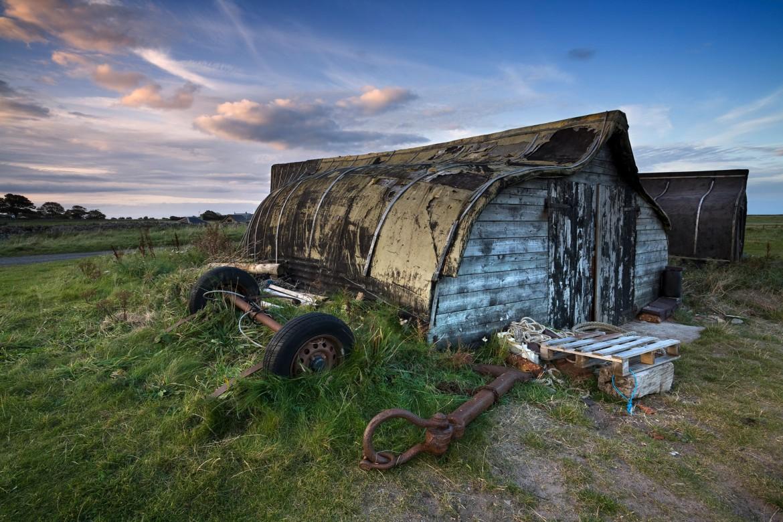 Lindisfarne upturned boat