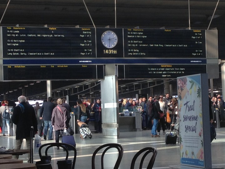 Monday 14 March 2016 – St Pancras to Derby