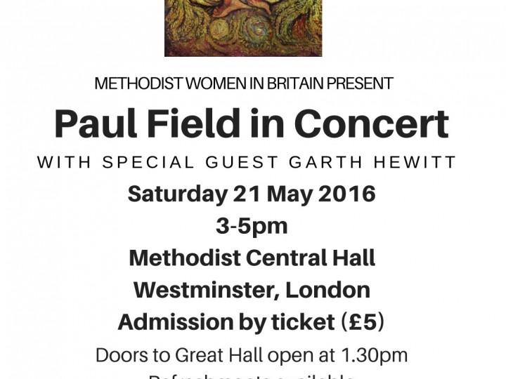 Tuesday 29 March 2016 – concert arrangements