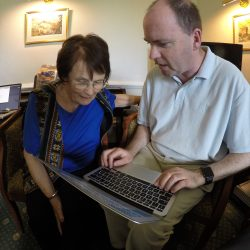 Mike Holroyd demonstrates screen reader technology