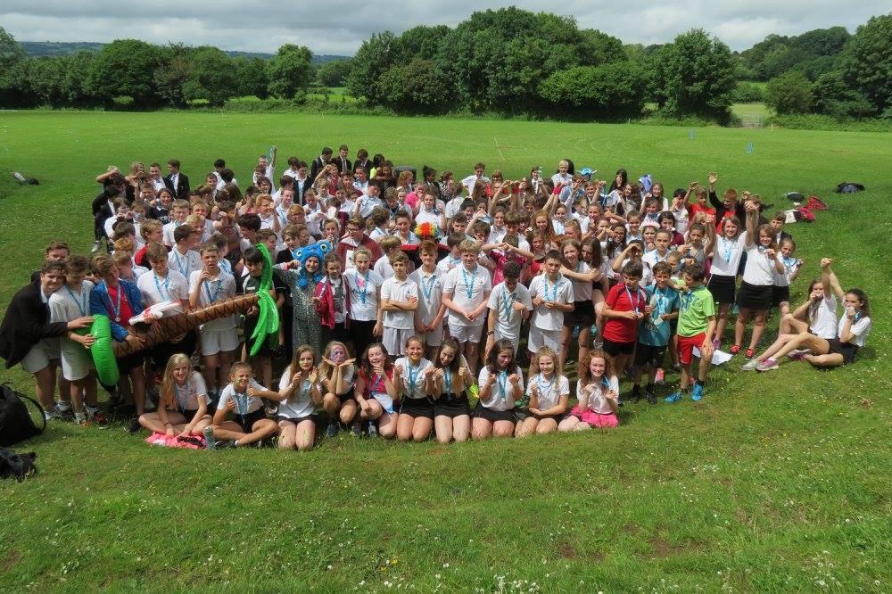 Devon school pupils