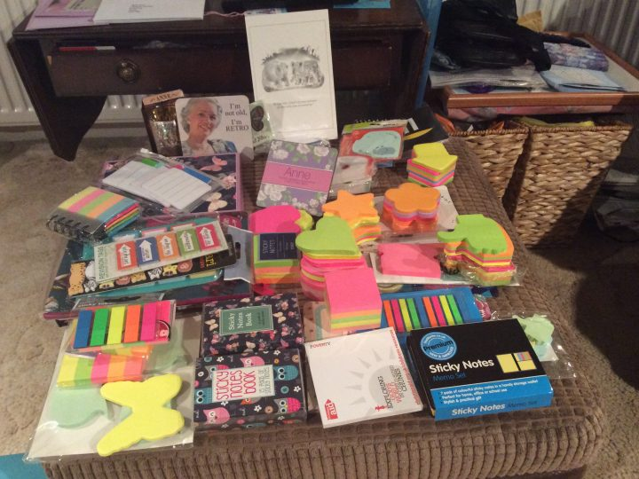 Friday 17 February 2017 – you can never have too many sticky notes…