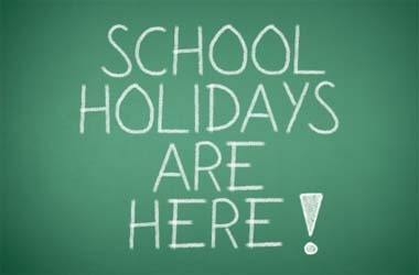 Saturday 21st July – School holidays